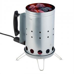 Fegefeuer Elektrischer Kohleanzünder BBQ-Starter 350 W Edelstahl