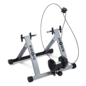 Tourek Fahrrad Rollentrainer Heimtrainer 26/28 Zoll 100kg Stahl silber Silber