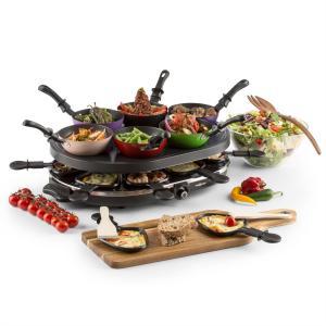 Woklette tafelgrill gourmet wok set 1200 W 8 personen anti-aanbak