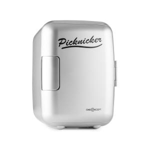 Picknicker Thermobox Mini 4l AC DC Auto eMark-Certificaat zilver Zilver
