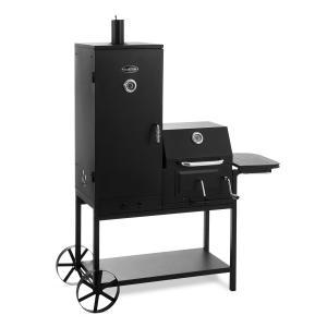Fleischbrocken grill na węgiel drzewny wędzarnia komora wędzarnicza grill-BBQ czarny
