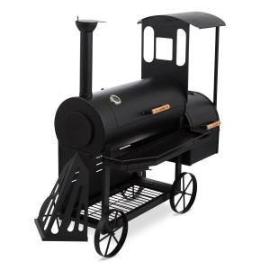 Dampflok savustin grilli 3 mm terästä musta