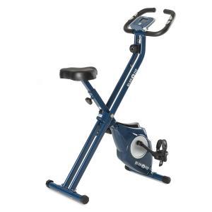 Azura X-Bike Heimtrainer bis 100 kg Pulsmesser klappbar 3 kg blau