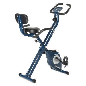 Azura Pro X-Bike Heimtrainer bis 100 kg Pulsmesser klappbar 3 kg blau