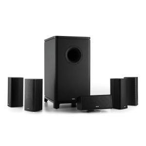 Ambience 5.1 Surround Sound System Black Incl. 30m Speaker Cable Black