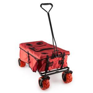 Red Devil Bollerwagen Handwagen faltbar 68kg Seitentaschen rot Rot