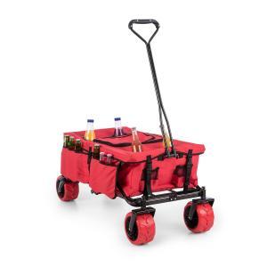 Red Devil Wózek domowy Wózek ręczny składany 68 kg kieszenie boczne czerwony Czerwony