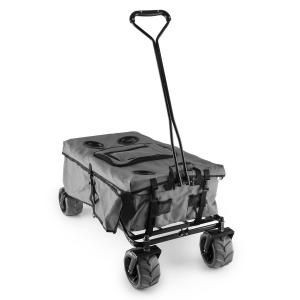 Greyjoy Bollerwagen Handwagen faltbar 68kg Seitentaschen grau Grau