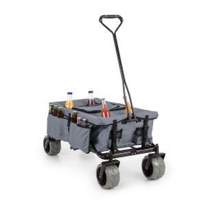 Greyjoy Wózek domowy Wózek ręczny składany 68 kg kieszenie boczne szary Szary