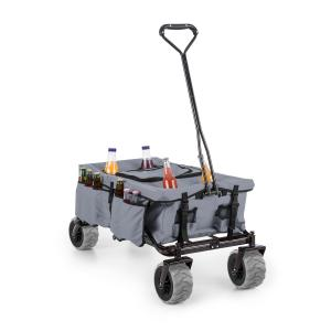 Greyjoy Hand Cart Wagon Trolley Foldable 68kg Side Pockets Grey Grey
