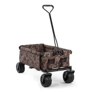 The Camou Wózek domowy Wózek ręczny składany 70 kg 90 l Koła Ø10cm kamuflażowy Camouflage