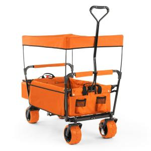 The Orange Supreme Hand Cart Hand Wagon 68 kg Sun Awning Orange