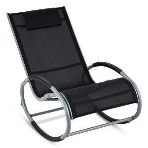 Retiro Swinging Rocking Armchair Aluminum Polyester black Black