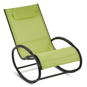 Retiro Fotel bujany aluminium poliester zielony Zielony