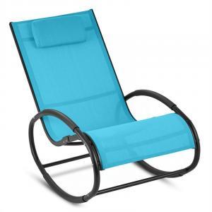 Retiro Swinging Rocking Armchair Aluminum Polyester Blue Blue