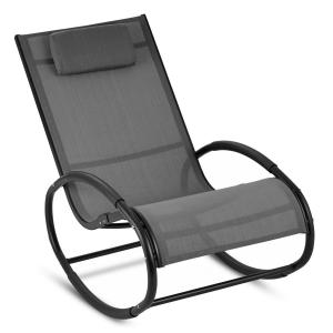 Retiro Swinging Rocking Armchair Aluminum Polyester grey Grey
