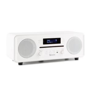 Melodia CD DAB+/UKW Desktop Radio CD-speler Bluetooth Alarm Snooze Wit Wit