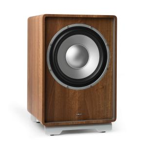 "RetroSub active subwoofer 24.5 cm (10"") walnut Walnut 