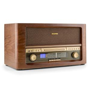 Belle Epoque 1906 Retro-stereo-installatie CD USB MP3 AUX UKW/MW CD-Player