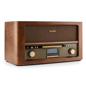 Belle Epoque 1906 DAB Retro-Stereoanläggning Bluetooth CD USB MP3 UKW CD-Player / Bluetooth / DAB Radio