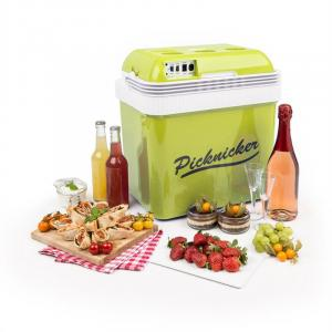Big Picknicker Nevera pórtatil 24L A++ AC DC para mechero de coche verde Verde | 24 Ltr