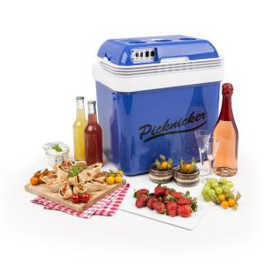 Big Picknicker Nevera pórtatil 24L A++ AC DC para mechero de coche azul Azul | 24 Ltr