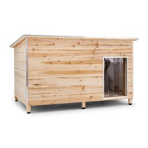 Kasteel Woef hondenhok taille L120x90x90 cm geïsoleerde houten entree 120 cm