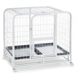 Dog Kennel Dog Training Cage 104x78x102cm PVC Tub Metal