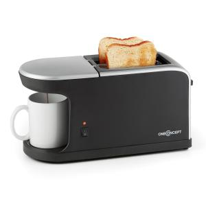 Quickie 2 in 1 double slit toaster mini coffee machine incl. cup