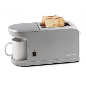 Quickie 2-in-1 double slit toaster mini coffee machine incl. cup