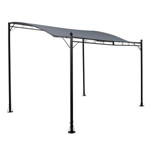 Allure pérgola sobre techo carpa 300x250cm poliéster gris oscuro Gris