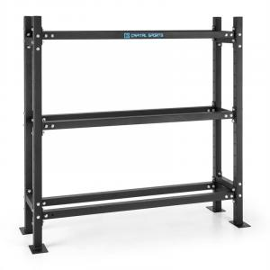 Traytor B Storage Rack Weight Rack 3 Levels Steel Black 3x floor opening