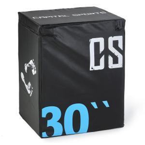 Rooko Caixa de Pliometria para Salto Suave 76x61x51 cm Preto 76 cm