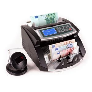 Buffett Contador Autenticador de dinheiro, Deteção por UV/IR e Magnética Preto