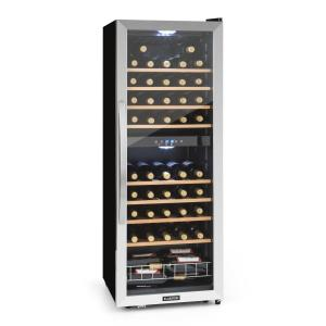 Vinamour 54D wine refridgerator 2 zones 148 l 54 bottles stainless steel front