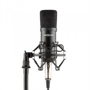 Mic-700 Micrófono de estudio Ø34mm Uni Soporte de araña Protector contra viento XLR negro Negro