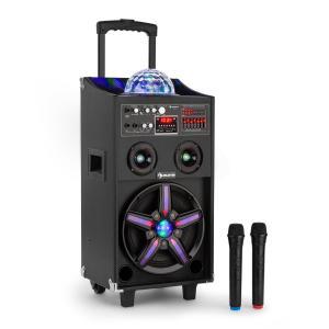 DisGo Box 100 mobil DJj-högtalare med discoljus 100W RMS Bluetooth USB