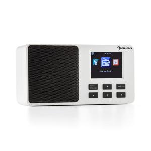 "IR-110 Internet Radio 2.4"" TFT Colour Display Battery WLAN USB White White"