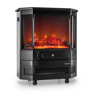 Castillo Electric Fireplace Halogen Flame Simulation Black
