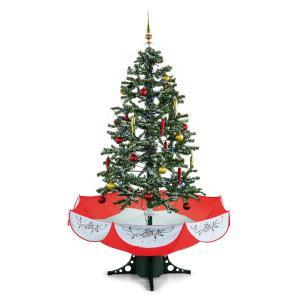 Everwhite Red árvore de Natal nevar 180 cm música LED vermelho