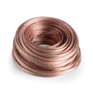 Speaker Cable - OFC Full Copper 2 x 4 mm 30 m Transparent