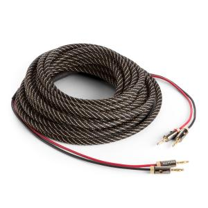 Speaker Cable OFC Full Copper 2 x 3.5 mm² 10 m Textile Cover Pre-assembled