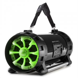Soundstorm 2.0 Boombox Bluetooth 40W RMS NFC USB AUX MIC / GIT App-Control Green