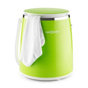 oneConcept Ecowash-Pico Mini Washing Machine spin cycle function 3.5 kg 380 W green Green