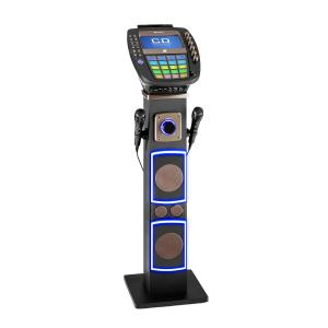 "KaraBig Sistema de Karaoke Bluetooth LED 7"" TFT CD USB Altifalantes 80 W"