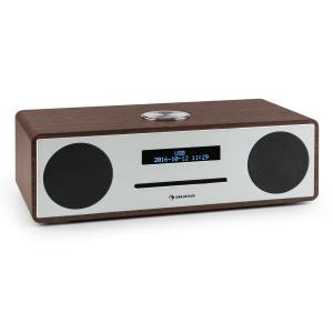 Stanford DAB-CD-Radio DAB+ Bluetooth USB MP3 AUX UKW valnötsfärgad Valnöt