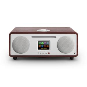 Two – 2.1 Radio internet design lecteur CD USB Bluetooth Spotify DAB+ Acajou