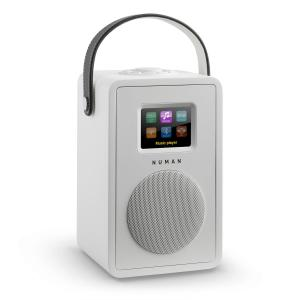 Mini Two Design Internet Radio WiFi DLNA Bluetooth DAB/DAB+ FM White White | No Akku