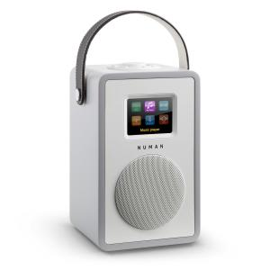 Mini Two Design Internet Radio WiFi DLNA Bluetooth DAB/DAB+ FM Grey Grey | No Akku
