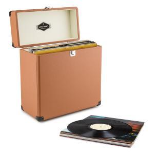 Vinylbox Recordbox Walizka na płyty winylowe skóra 30 płyt winylowych brązo Brązowy
